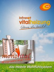 Infrarot vitalheizung Monovital