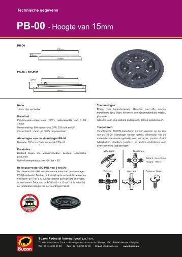 Buzon PB serie - drager overzicht