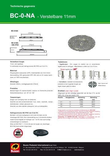 Buzon BC serie - drager overzicht