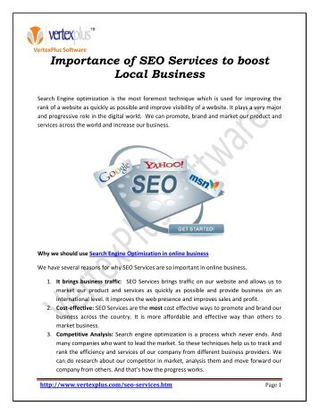 Uses  of search Engine optimization in Online business