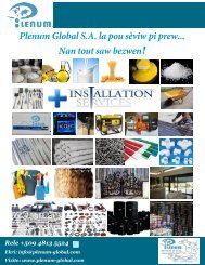 Plenum Global S.A. Catalogue V2