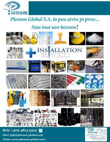 Plenum Global S.A. Catalogue V2