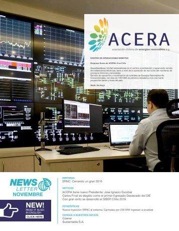 Newsletter ACERA - Noviembre 2016