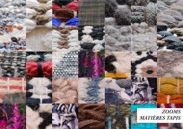 Zooms Matieres Tapis Printemps-Été 2017