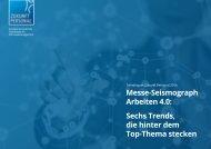 Messe-Seismograph Arbeiten 4.0 Sechs Trends die hinter dem Top-Thema stecken