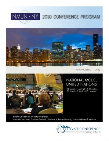 2010 NMUN•NY Conference Program - National Model United Nations
