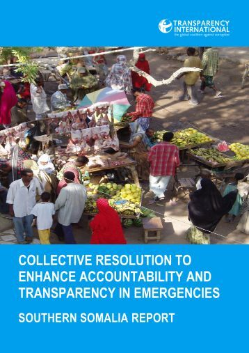 COLLECTIVE RESOLUTION TO ENHANCE ACCOUNTABILITY AND TRANSPARENCY IN EMERGENCIES