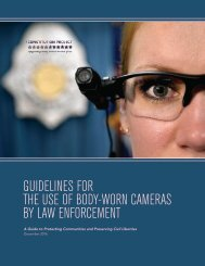 THE USE OF BODY-WORN CAMERAS BY LAW ENFORCEMENT