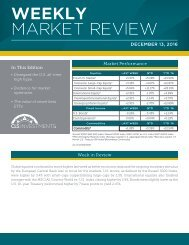 WEEKLY MARKET REVIEW