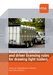 Road safety advice and driver licensing rules for drawing light trailers