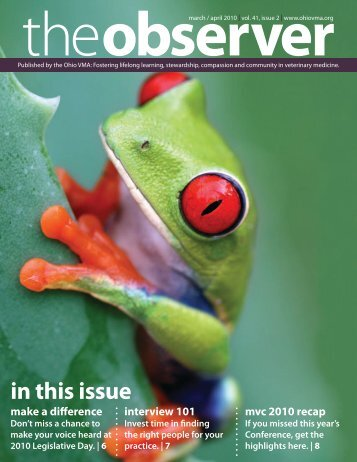 in this issue - Ohio Veterinary Medical Association