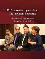 2016 Innovation Symposium The Intelligent Enterprise