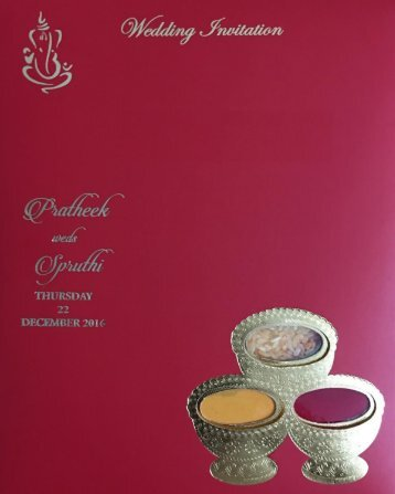 Invitation Pratheek - Sangeeth Wedding Reception