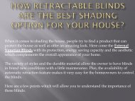 How Retractable Blinds Are The Best Shading Option For Your House?