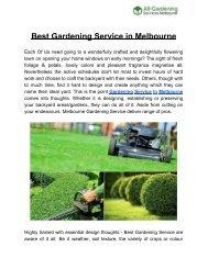 Best Gardening Servicein Melbourne