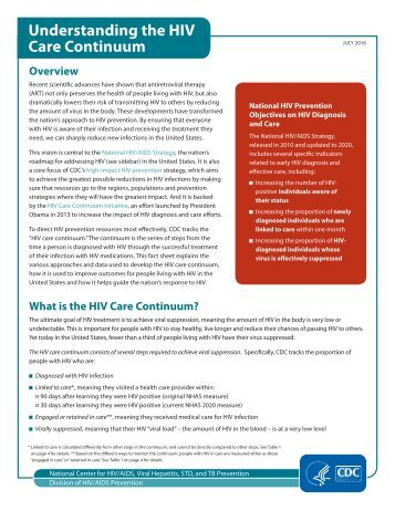 Understanding the HIV Care Continuum
