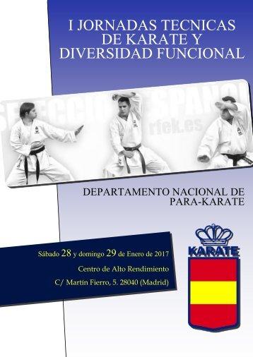 I JORNADAS TÉCNICAS DE KARATE Y DIVERSIDAD FUNCIONAL