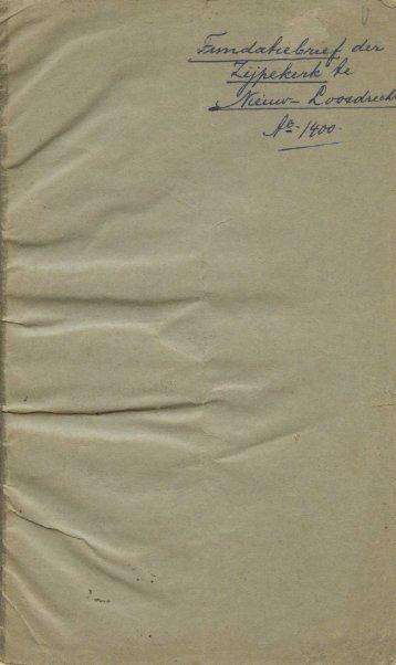 Fundatiebrief der Zijpekerk te Nieuw-Loosdrecht, Anno 1400
