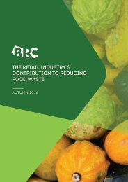 THE RETAIL INDUSTRY'S CONTRIBUTION TO REDUCING FOOD WASTE