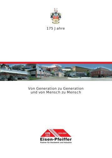 Imagebroschüre der Carl Pfeiffer GmbH & Co. KG zum 175 jährigen Jubiläum