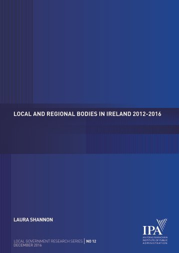 LOCAL AND REGIONAL BODIES IN IRELAND 2012-2016