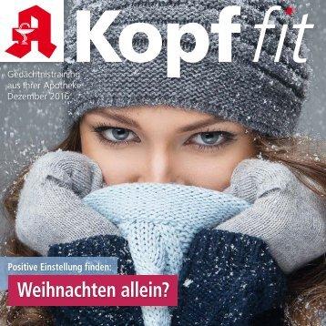 """Leseprobe """"Kopf-fit"""" Dezember 2016"""