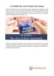 Go Mobile Be a Part of Smart Advertising
