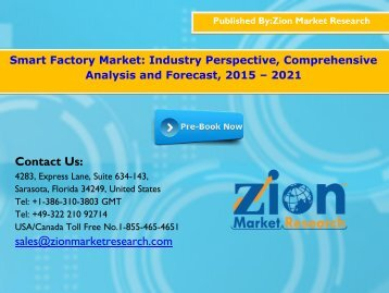 Smart Factory Market, 2015 - 2021