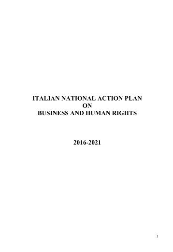 ON BUSINESS AND HUMAN RIGHTS 2016-2021