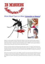Which Blood Type is in More Vulnerable to Malaria