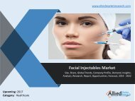Facial Injectables Market - Size, Share, Global Trends and Forecast, 2014 - 2020