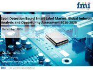 Spoil Detection Based Smart Label Market Volume Analysis, Segments, Value Share and Key Trends 2016-2026
