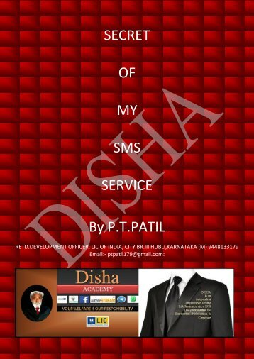 DISHA SMS BRAMHARSTRA BY.P.T.PATIL