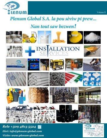 Update Plenum Global SA Haiti catalogue Volume 2