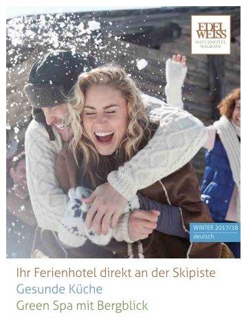 Winterprospekt Edelweiss Naturhotel Wagrain
