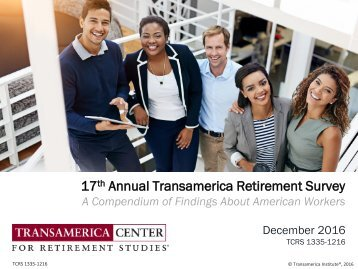 17 Annual Transamerica Retirement Survey