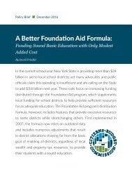 A Better Foundation Aid Formula
