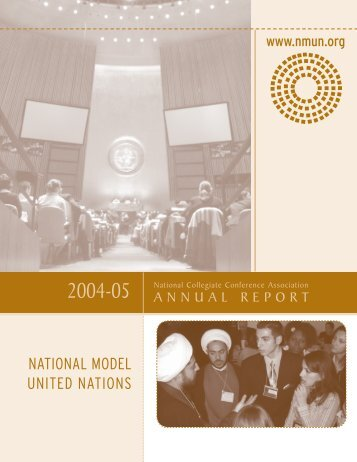 2005 NCCA Annual Report - National Model United Nations