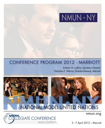registration opens may 2012 - National Model United Nations