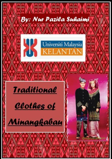 tradisional clothes of minangkabau