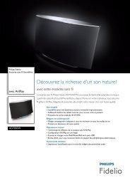 Philips Fidelio Enceinte sans fil SoundAvia - Fiche Produit - FRA