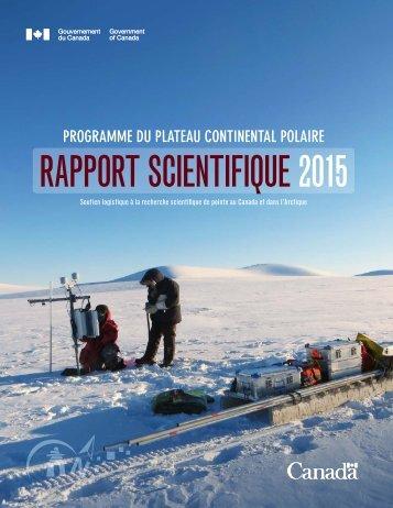 RAPPORT SCIENTIFIQUE 2015