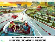 AUTOMATED + CONNECTED VEHICLES IMPLICATIONS FOR VANCOUVER & NEXT STEPS