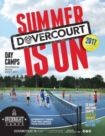 Dovercourt Summer Camps 2017 program guide