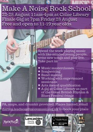 Make a Noise rock school poster (1)