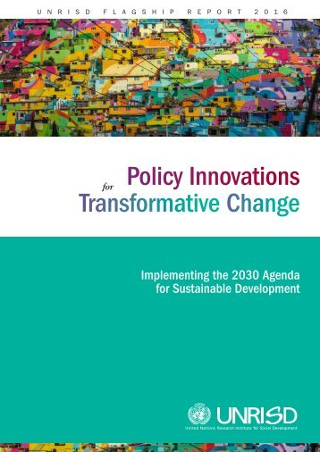 Policy Innovations Transformative Change