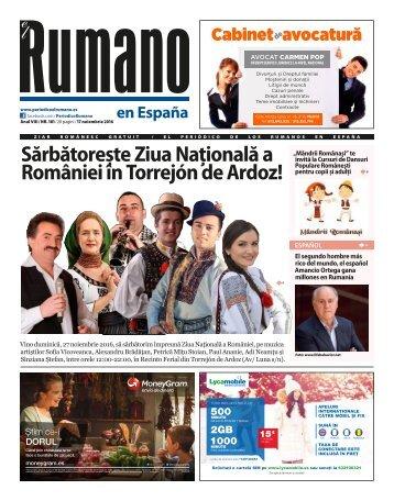 Numărul 181 al Ziarului El Rumano