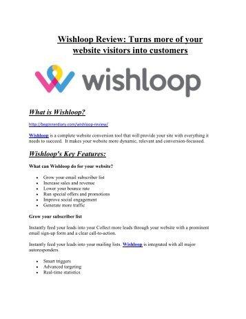 Wishloop review and $26,900 bonus - AWESOME!