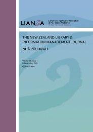 THE NEW ZEALAND LIBRARY & INFORMATION MANAGEMENT JOURNAL NGĀ PŪRONGO