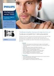 Philips Multigroom series 7000 Tondeuse visage et corps 9 en 1 - Fiche Produit - FRA